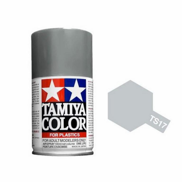 peinture tamiya pour maquette plastique bombe de 100ml peinture tamiya ts17 aluminium brillant. Black Bedroom Furniture Sets. Home Design Ideas
