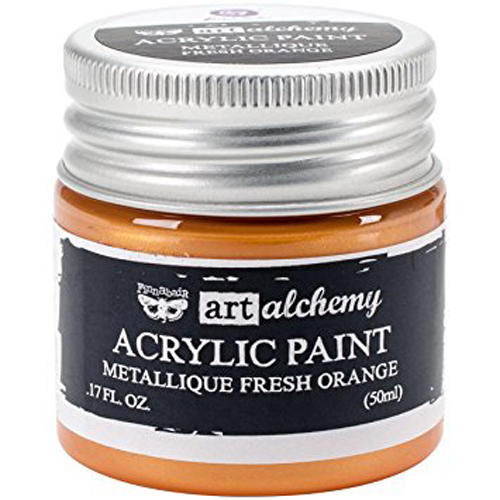 Peinture Acrylique Métallique Art Alchemy FRESH ORANGE Prima Marketing