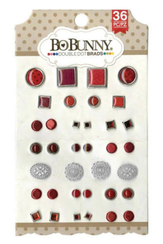 Attaches Parisiennes - Brads Fantaisies Rouge (x36) Bo Bunny
