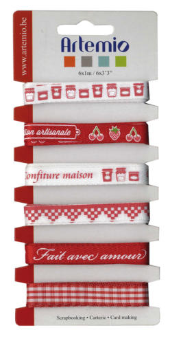 "Assortiment Rubans Fantaisies - ""Confiture Maison"""