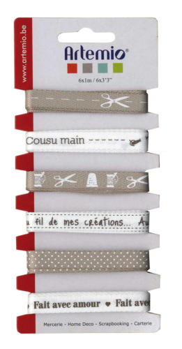 "Assortiment Rubans Fantaisies - ""Cousu Main"""