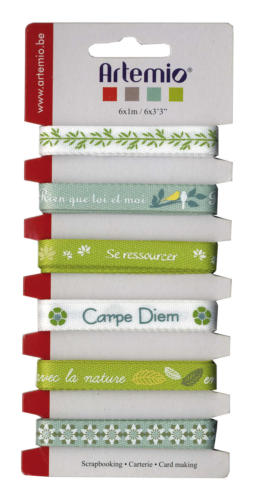 "Assortiment Rubans Fantaisies - ""Carpe Diem"""