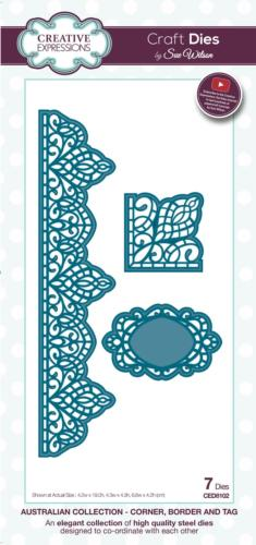 Dies Creative Expressions - AUSTRALIAN Corner, Border and Tag