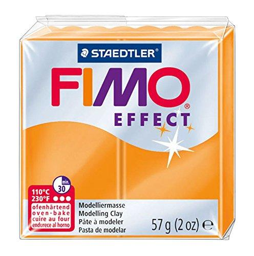 FIMO SOFT - Pâte Fimo TRANSLUCIDE ORANGE 404