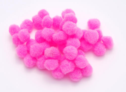 Pompons 15mm - ROSE BONBON (x40u)