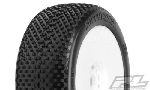 Pneus PROLINE - SUPPRESSOR Soft Montés/Collés Jantes Blanches