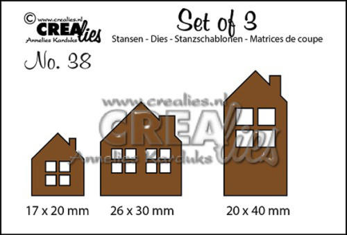 Dies Crealies -  Set 3 Maisons SET DE 3