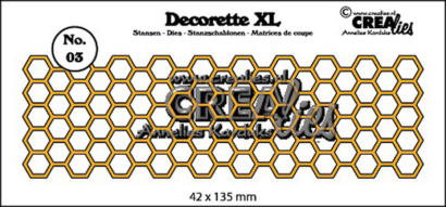 Dies Crealies -  Frise Honeycomb  DECORETTE XL 03
