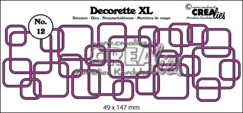 Dies Crealies -  Frise Interlocking Squares  DECORETTE XL 12