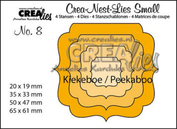 Dies Crealies - Peekaboo NEST LIES SMALL n°8