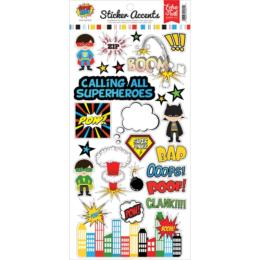 Comics - Echo Park - Stickers Super Hero