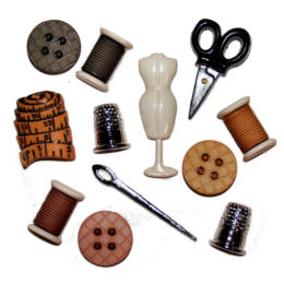 Boutons Fantaisies - Assortiment COUTURE (x10)