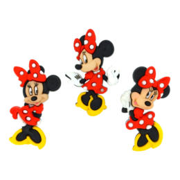 Boutons Fantaisies Disney - Boutons MINNIE (x3)