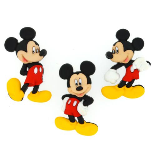 Boutons Fantaisies Disney - Boutons MICKEY (x3)