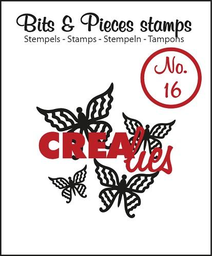 Tampon Clear Crealies - Papillons Butterfly 4 n°16
