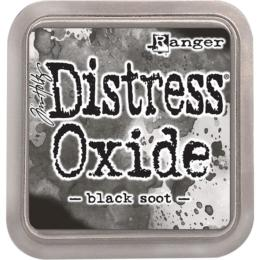 Encre Distress Oxide - BLACK SOOT Ranger Ink by Tim Holtz