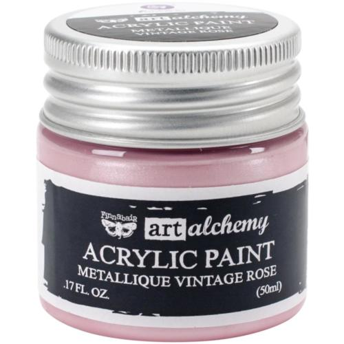 Peinture Acrylique Métallique Art Alchemy VINTAGE ROSE Prima Marketing