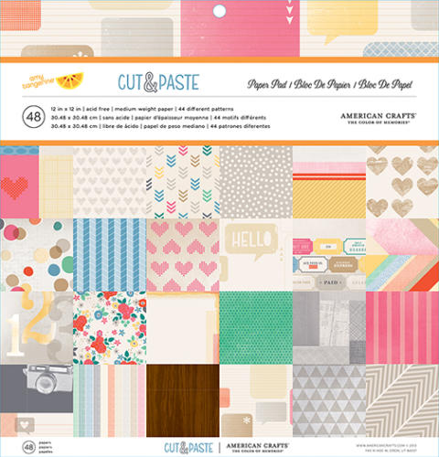 -30% Paper Pad 12x12  - CUT AND PASTE American Crafts
