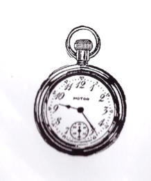 -30% Tampon Caoutchouc - POCKET WATCH LG  BLine Designs