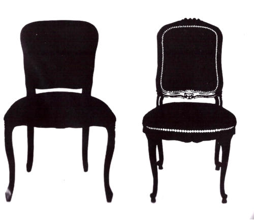 -30% Tampon Caoutchouc - CHAIR SILHOUETTE DUO  BLine Designs