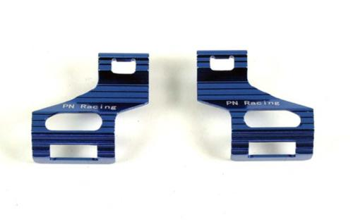 PN Racing - MR3038B - Clips Accus MR03 Alu Bleu