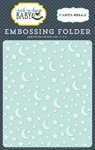 Plaque Embossage - Stars and Moon - Carta Bella