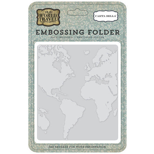 Plaque Embossage - World Map - Carta Bella