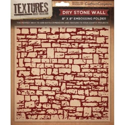 Plaque Embossage - DRY STONE WALL - Crafters Companion