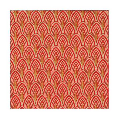 Papier Fantaisie 100% Coton - JOSEPHINE Red/Gold