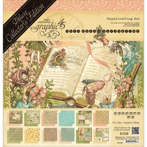 Graphic 45 - Pack Deluxe Collector's ONCE UPON A SPRINGTIME