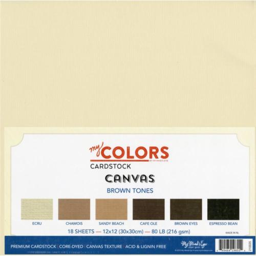 Assortiment Papier 30x30 Uni - CANVAS BROWN TONES (18 feuilles)