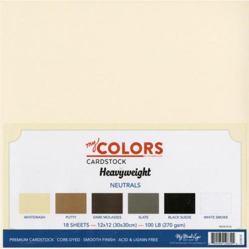 Assortiment Papier 30x30 Uni - HEAVYWEIGHT NEUTRALS (18 feuilles)