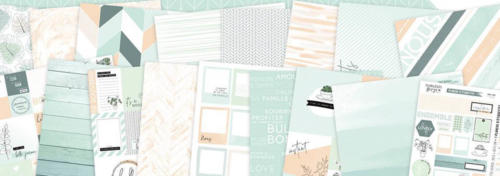 Florilèges Design - SOFT AND GREEN - Kit de 8 Papiers