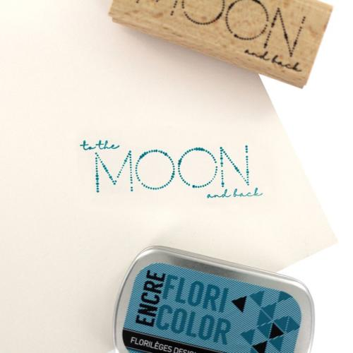 Tampon Bois Florilèges Designs - Capsule To The Moon and Back Mai 2018 - Moon