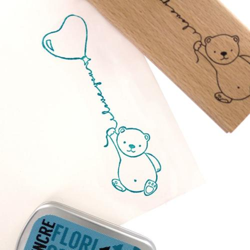 Tampon Bois Florilèges Designs - Capsule To The Moon and Back Mai 2018 - Mon Petit Ours