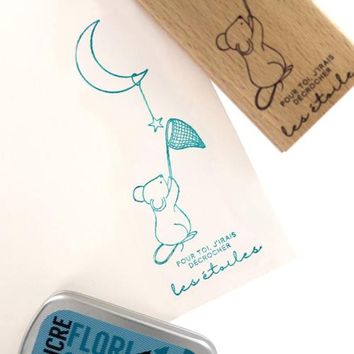 Tampon Bois Florilèges Designs - Capsule To The Moon and Back Mai 2018 - Ma Jolie Souris