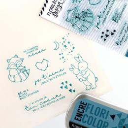 Tampon Clear Florilèges Designs - Capsule To The Moon and Back Mai 2018 - Jusqu'aux Etoiles
