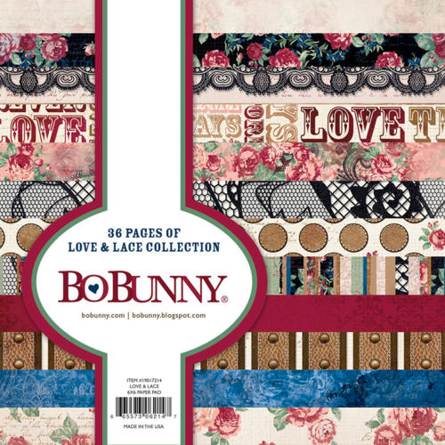 Paper Pad 15x15 - BoBunny LOVE and LACE