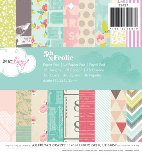 Paper Pad 15x15 - American Crafts - Dear Lizzy 5TH AND FROLIC