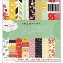 Paper Pad 15x15 - American Crafts - Dear Lizzy LUCKY and CHARM