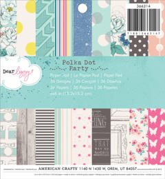 Paper Pad 15x15 - American Crafts - Dear Lizzy POLKA DOT PARTY