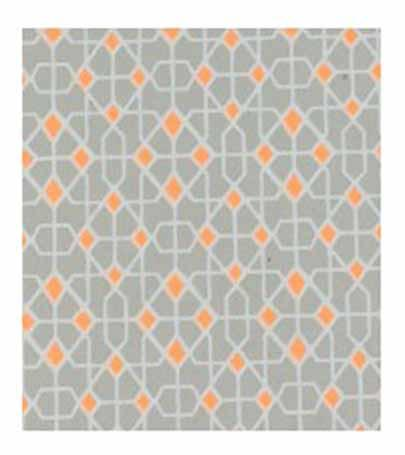 Papier Fantaisie 100% Coton - NEON Gris/Orange