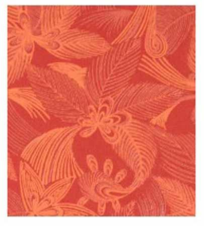 Papier Fantaisie 100% Coton - JUNGLE Rouge
