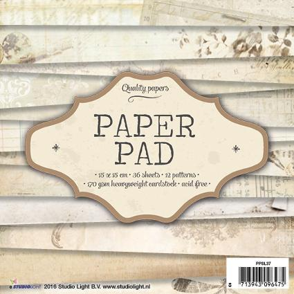 Paper Pad 15x15 - Studio Light - Vintage Brun