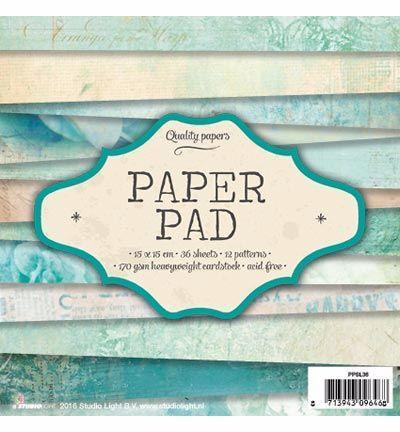 Paper Pad 15x15 - Studio Light - Vintage Bleu