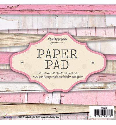 Paper Pad 15x15 - Studio Light - Vintage Rose