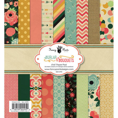 Paper Pad 15x15 - Fancy Pants - BURLAP & BOUQUETS