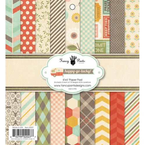 Paper Pad 15x15 - Fancy Pants - HAPPY GO LUCKY