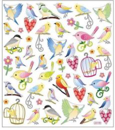 Autocollants Eté - Stickers THE BEAUTY OF BIRDS