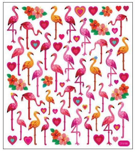 Autocollants Eté - Stickers FLAMINGO LOVE